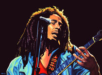 Bob Marley painting by Paul Meijering