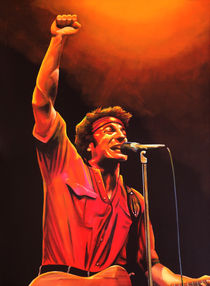 Bruce Springsteen painting von Paul Meijering