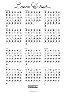Lunar Calendar 2014 by Saskia Pomeroy