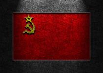 USSR Flag Stone Texture von Brian Carson