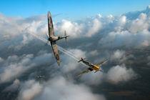 Spitfire and Messerschmitt von flightartworks