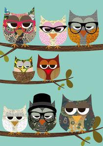 Nerd Owls with glasses von Claudia Schoen