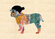 Nerd Bulldog von Claudia Schoen