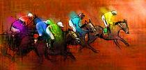 Horse Racing 01 von Miki de Goodaboom