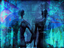 Blue men von Gabi Hampe