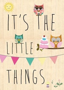 It's the little things - typography with owls von Claudia Schoen
