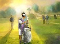 Golfing at Dawn von Miki de Goodaboom