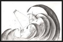 J.R.R. Tolkien - Numenor falling by dieroteiris