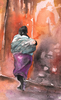 Moroccan Woman carrying Baby 03 von Miki de Goodaboom