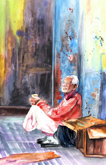 Old Beggar in Morocco by Miki de Goodaboom