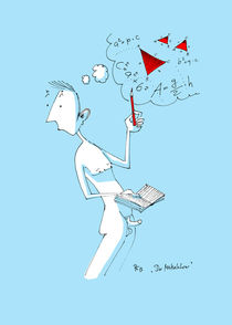 Der Mathelehrer - Karikatur von Antje Püpke