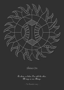 Shine On Mandala - White Design w/msg by themandalalady