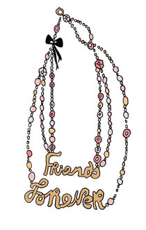 friends forever necklace von by Jill