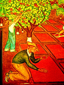 hands gathering Fruit by Joseph Coulombe