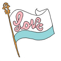 flag of love by by Jill