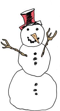 a classical snowman by by Jill