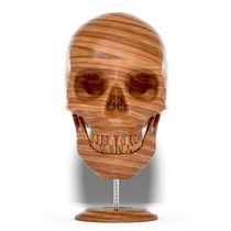 Wooden Skull by luke-dwyer-artist