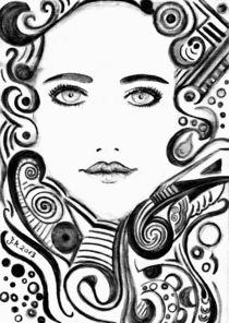 Illustration Portrait von Jasmin Metzen