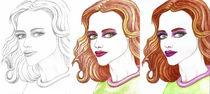 Fashion Illustration Womanportrait  von Jasmin Metzen