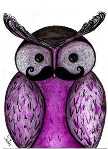 Mustache Owl  von Jasmin Metzen