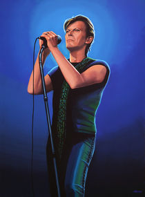 David Bowie painting von Paul Meijering