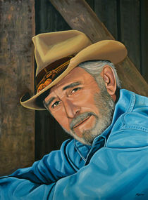 Don Williams painting von Paul Meijering