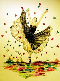Dancing with Butterflies by pencilart