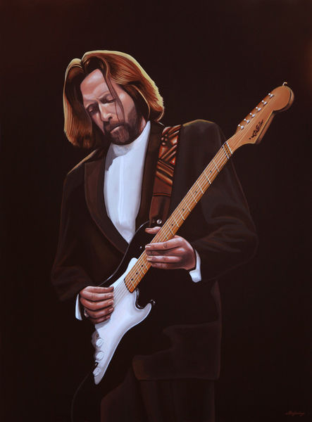 Eric clapton painting painting art prints and posters by for Eric mural painter