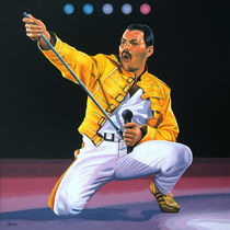 Freddy Mercury at Wembley painting von Paul Meijering