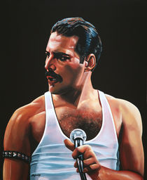Freddy Mercury painting by Paul Meijering