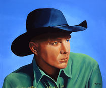 Garth Brooks painting by Paul Meijering