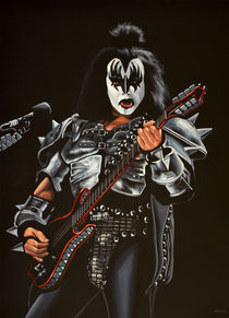 Gene Simmons of Kiss painting by Paul Meijering