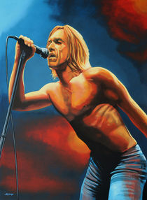 Iggy Pop painting von Paul Meijering
