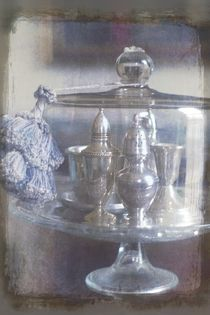 Cake Stand With Blue Tassel by suzanne powers