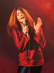 Janis Joplin painting  by Paul Meijering