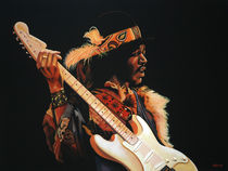 Jimi Hendrix painting 3 by Paul Meijering