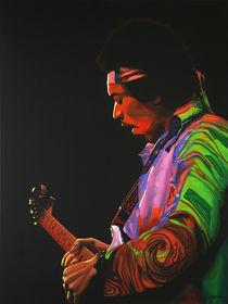 Jimi Hendrix painting 4 by Paul Meijering