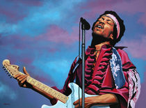 Jimi Hendrix painting 2 by Paul Meijering