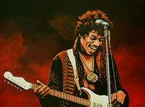 Jimi Hendrix painting  by Paul Meijering
