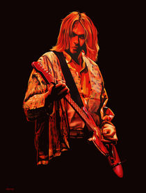 Kurt Cobain painting by Paul Meijering