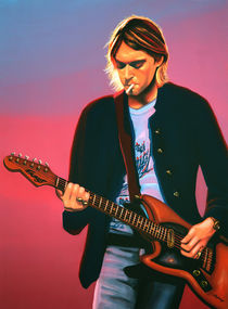 Kurt Cobain of Nirvana painting von Paul Meijering