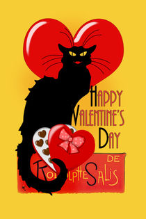 Happy Valentine's Day Le Chat Noir von gravityx9