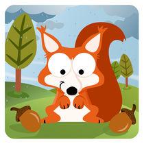 Waldtiere Serie  II. Eichhörnchen von Michaela Heimlich