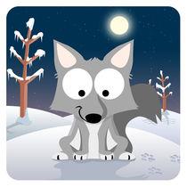Waldtiere Serie  II.  Wolf von Michaela Heimlich