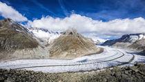 Gletscher pur - Aletschgletscher Schweizer Alpen Schweiz von Matthias Hauser
