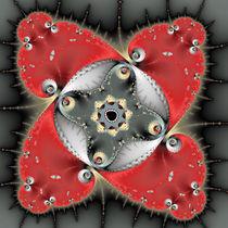 Fraktal rot und grau meditativ beruhigend kraftvoll von Matthias Hauser