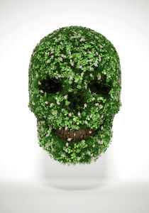 Clover Skull by luke-dwyer-artist