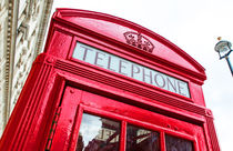 Telephonebox in London von davis