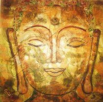 Goldner Buddhakopf von Rena Rady