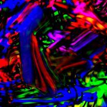 abstrakte revolution- Farben in Plastik von mehrfarbeimleben